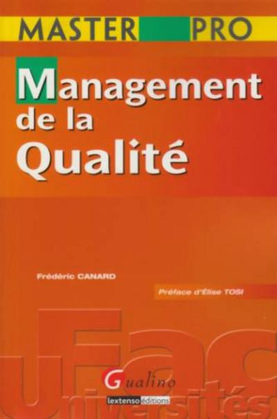 Master Pro - Management De La Qualite.
