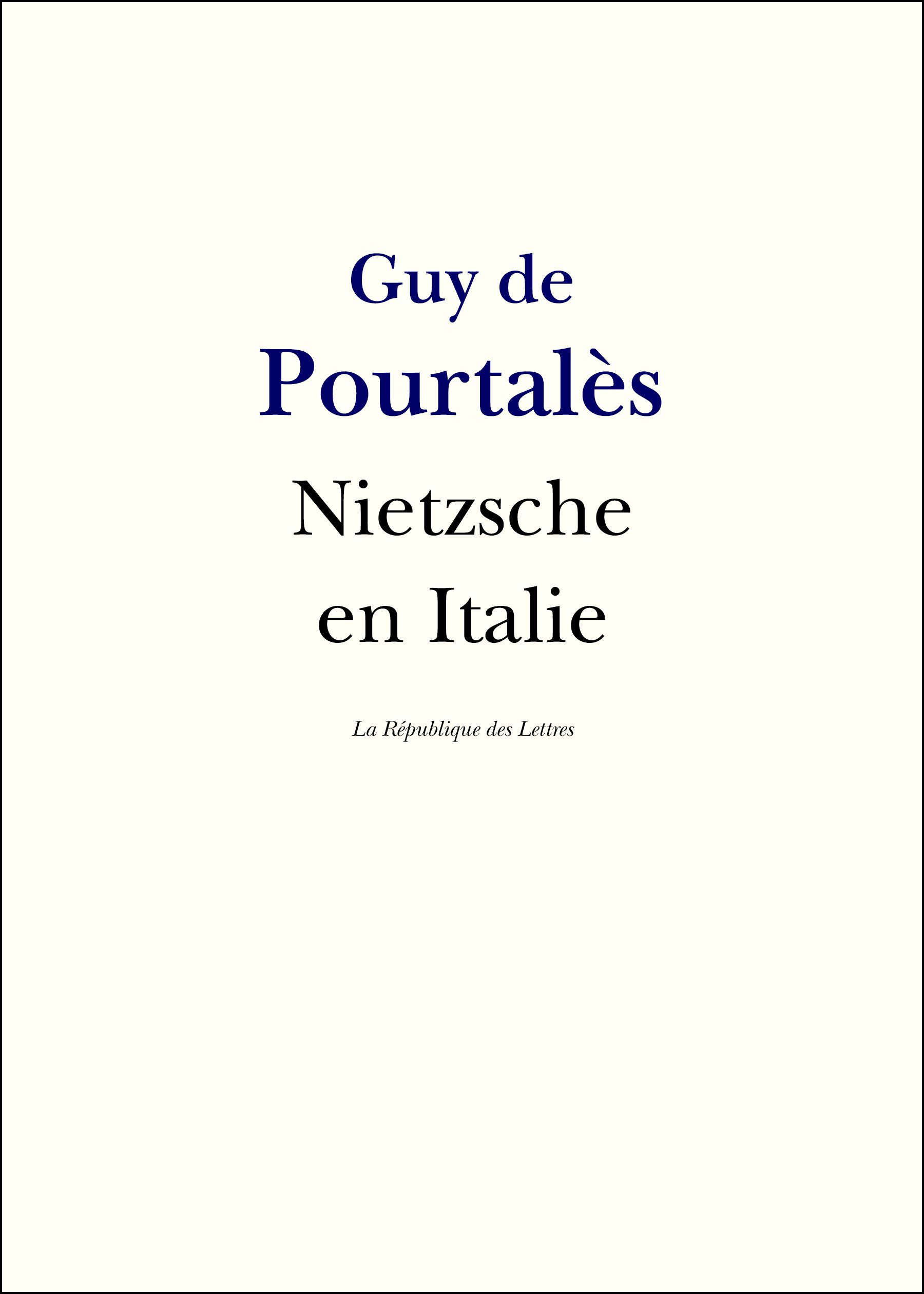 Nietzsche en Italie