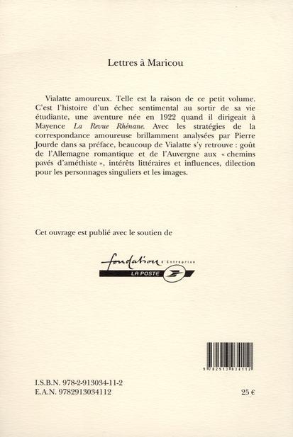 Lettres à Maricou