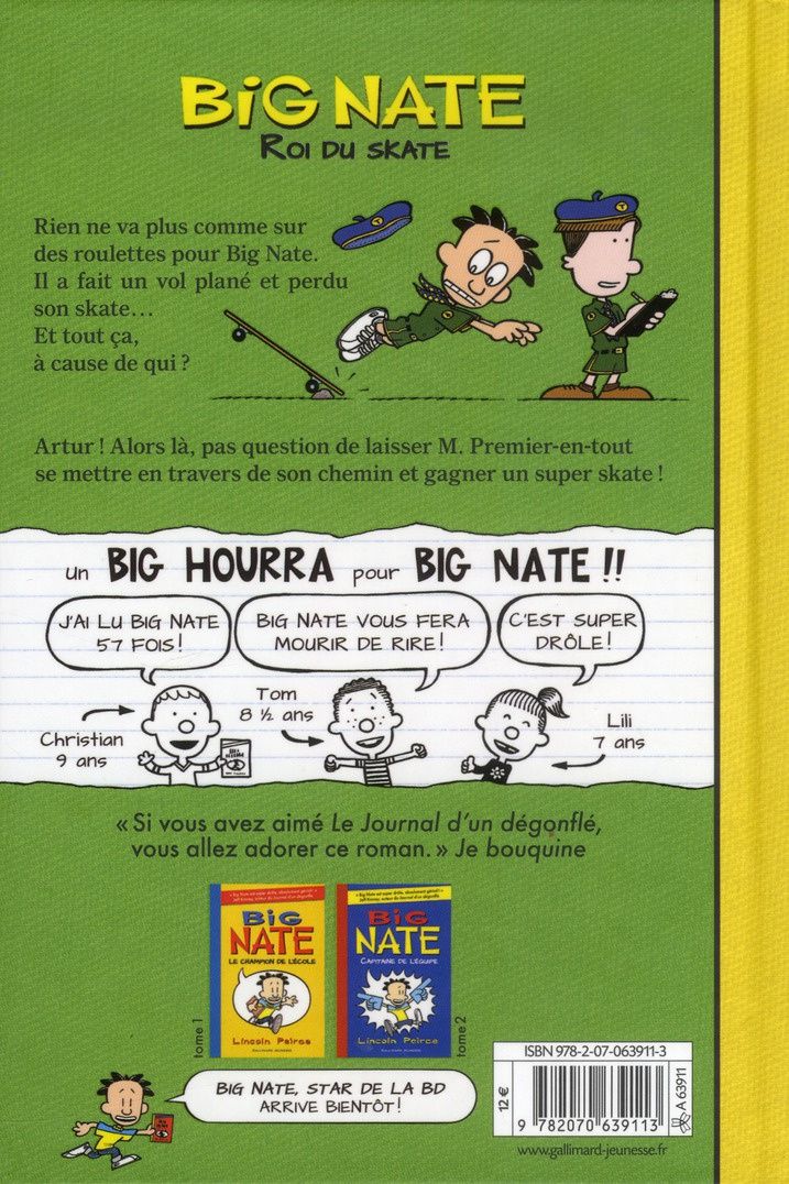 Big Nate T.3 ; roi du skate