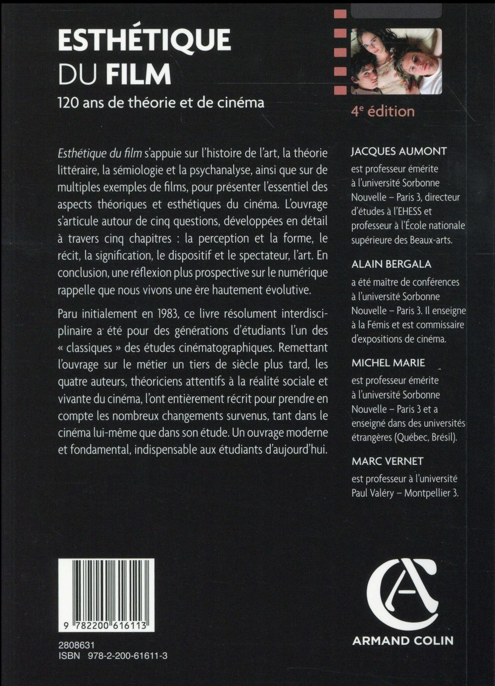 Esthétique du film ; 120 ans de théorie et de cinéma (4e édition)