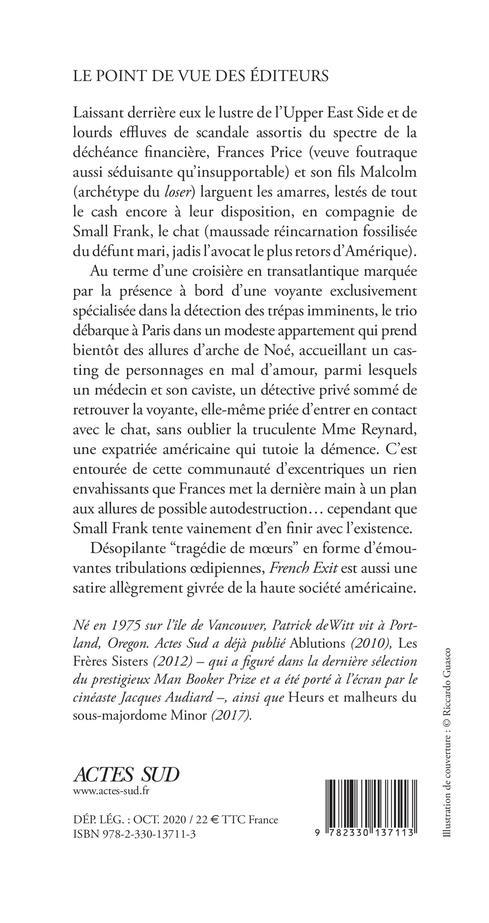 French exit ; une tragédie de moeurs