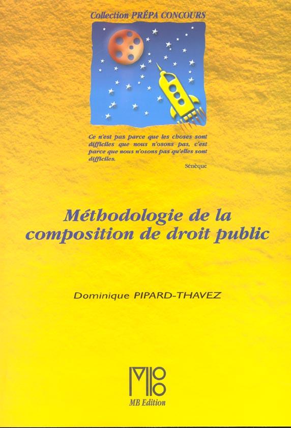 Methodologie de la composiition de droit public
