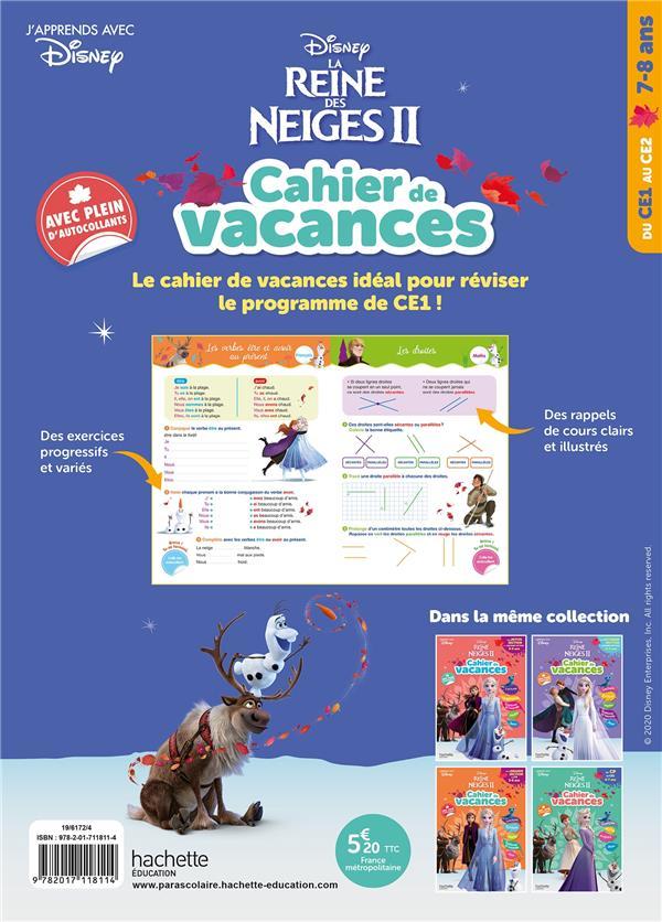 La Reine Des Neiges 2 Cahier De Vacances Du Ce1 Au Ce2 Disney Hachette Education Grand Format La Kazabul Martinique Fort De France