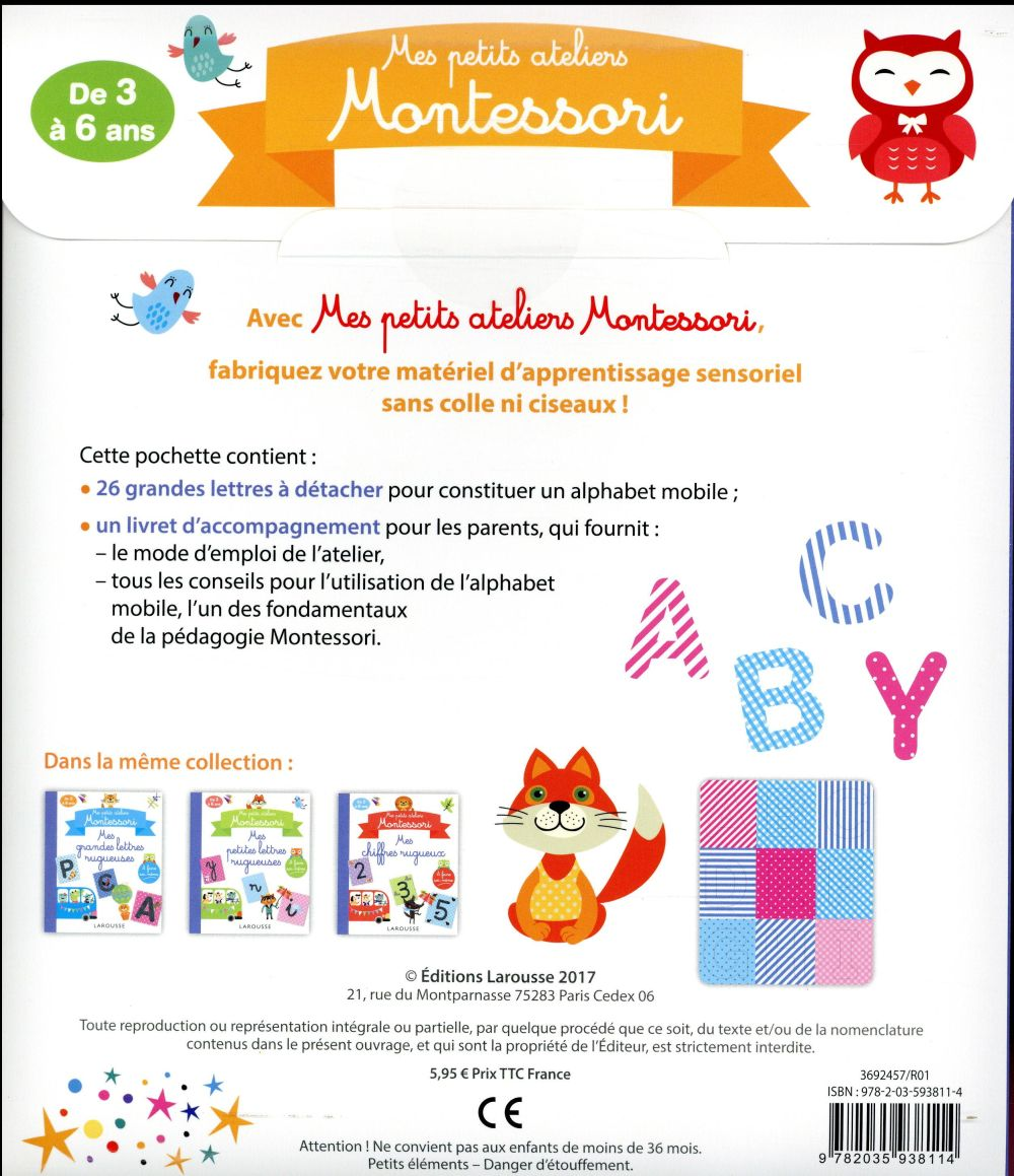 mes petits ateliers Montessori ; mon alphabet mobile