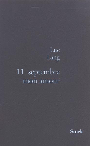 11 septembre mon amour