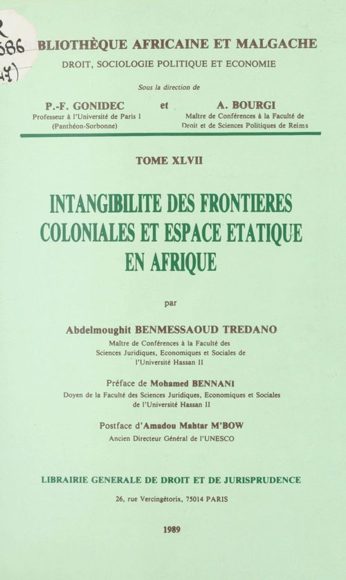 Intangibilite des frontieres