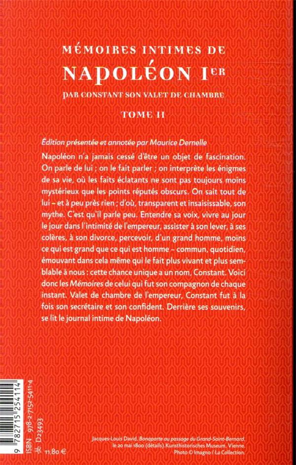 Mémoires intimes de Napoléon Ier par Constant, son valet de chambre t.2