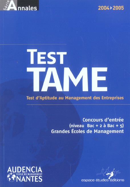 Test tame (édition 2004/2005)
