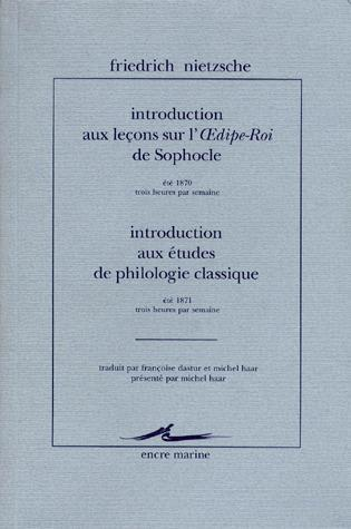 Introduction Aux Lecons Sur L'Oedipe-Roi De Sophocle