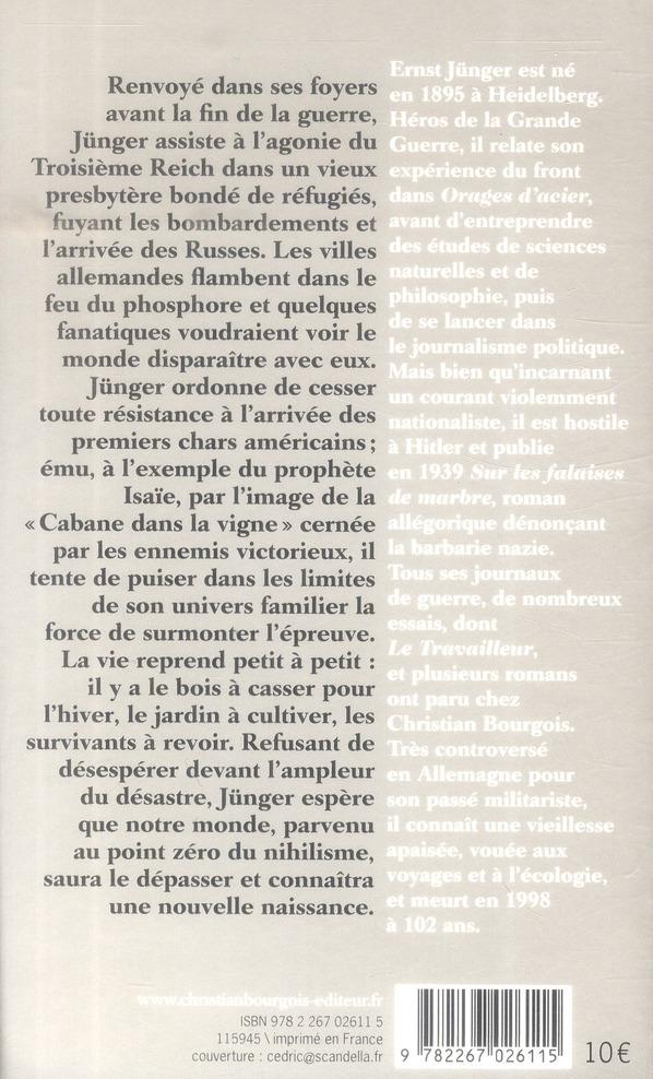 La cabane dans la vigne ; journal 1945-1948