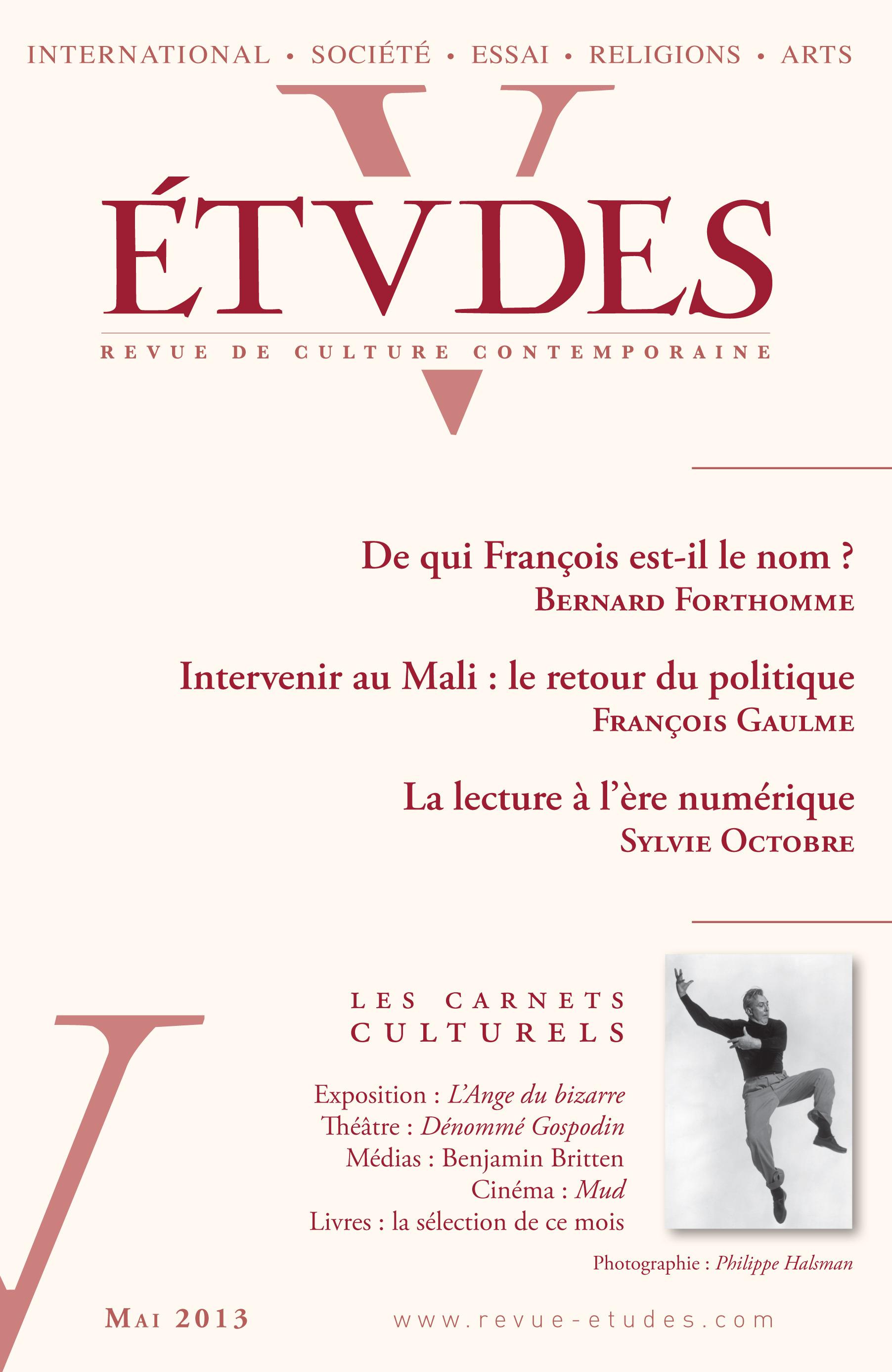 Revue études ; Etudes Mai 2013
