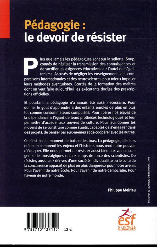 Pédagogie : le devoir de résister
