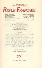 La Nouvelle Revue Française N° 375