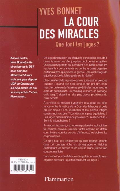 La cour des miracles - que font les juges ?