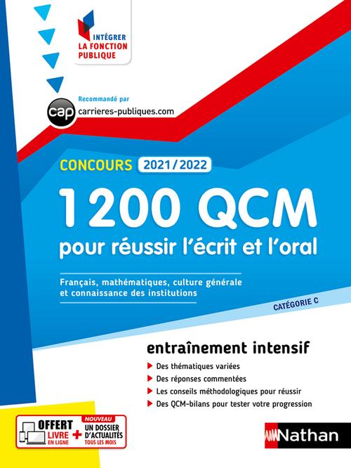 1 200 QCM pour réussir l'écrit et l'oral (édition 2021/2022)
