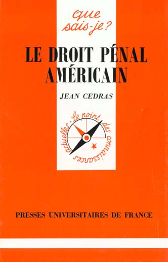 Le droit penal americain qsj 3173