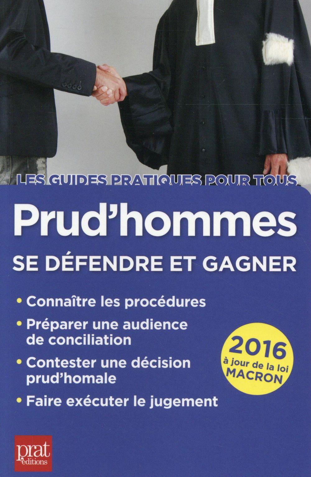 prud'hommes ; se défendre et gagner 2016