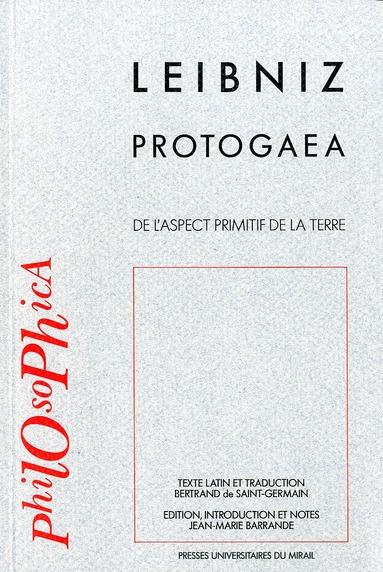 protogaea de l'aspect primitif de la terre