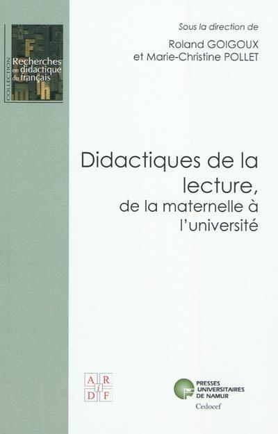 Didactiques De La Lecture De La Maternelle A L Universite