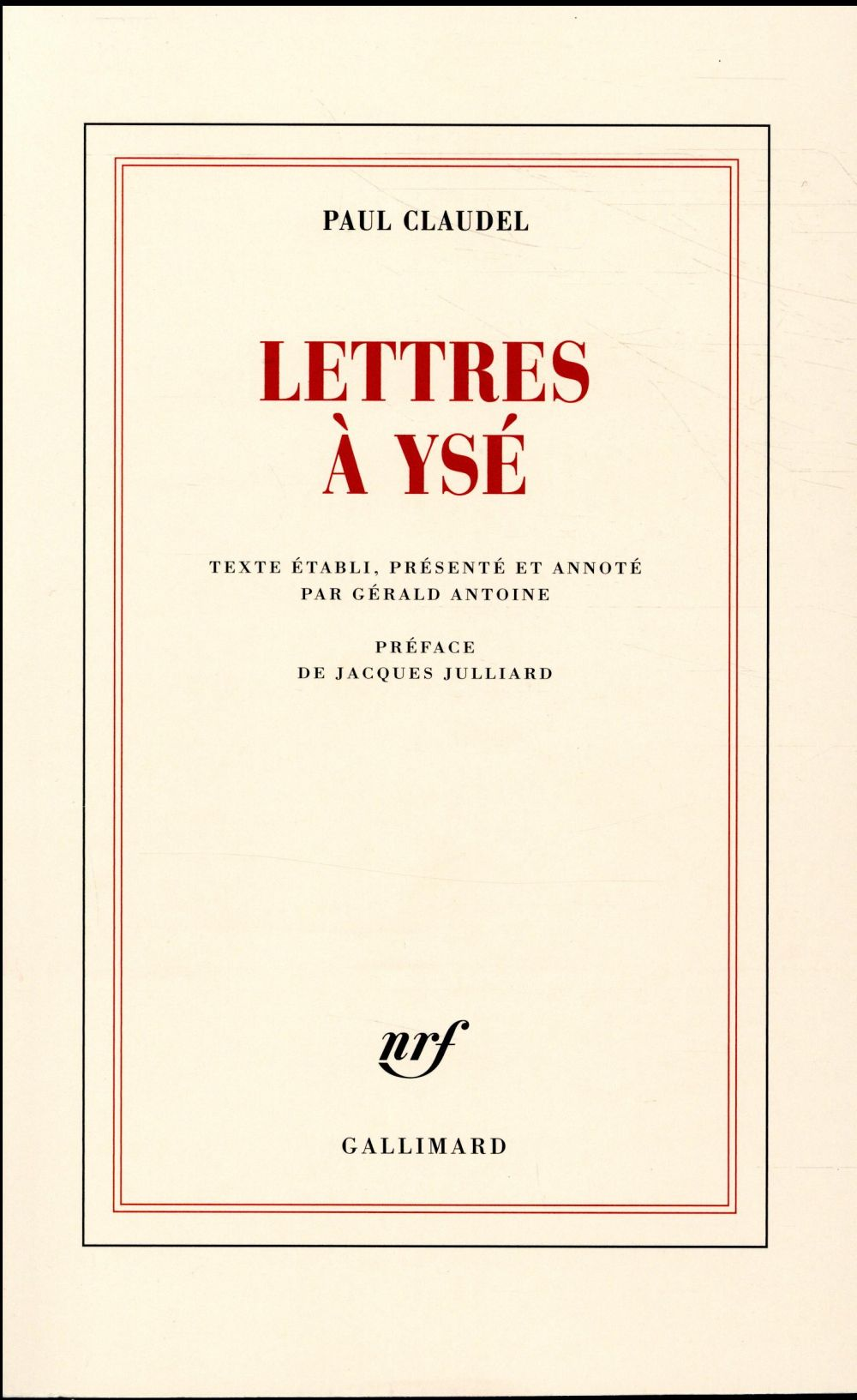 Lettres à Ysé