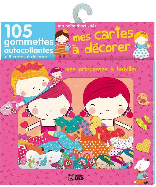 Mes Cartes A Decorer Avec Gommettes : Princesses A Habiller