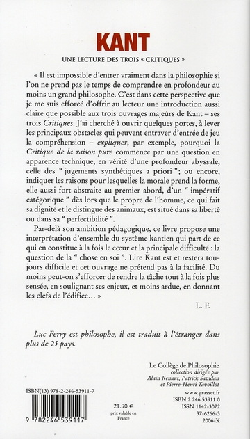 Kant ; une lecture des trois critiques