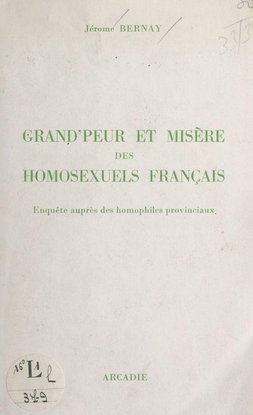 Grand'peur et misère des homosexuels français