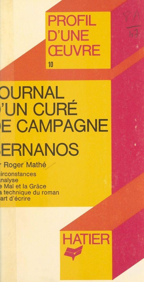 Journal d'un curé de campagne, Bernanos