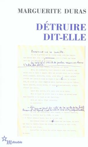DETRUIRE DIT-ELLE