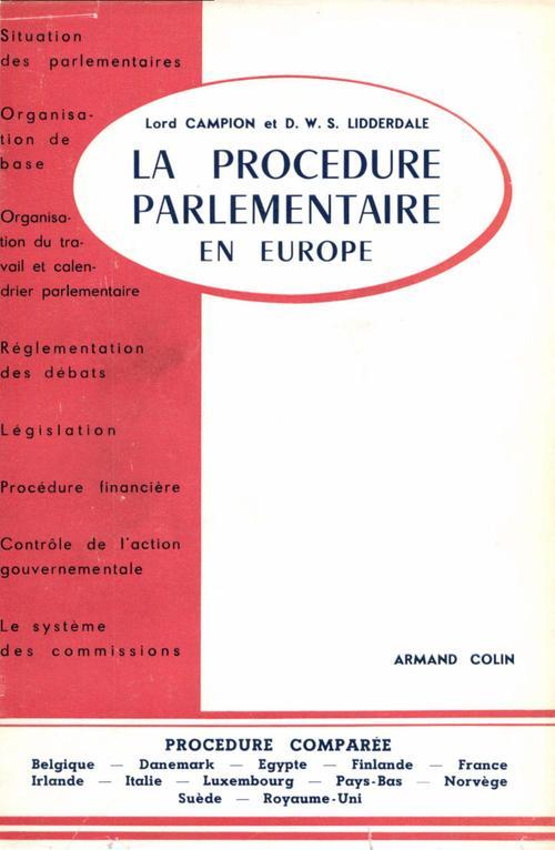 La procédure parlementaire en Europe