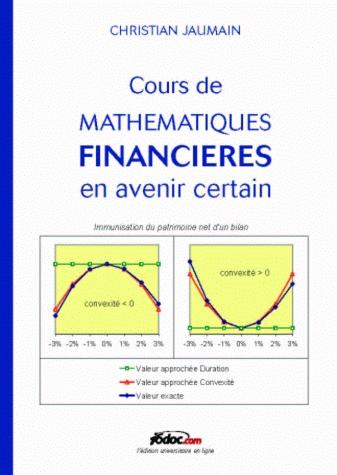 Cours de mathematique financieres