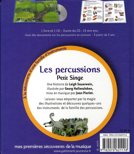 Les percussions ; petit singe