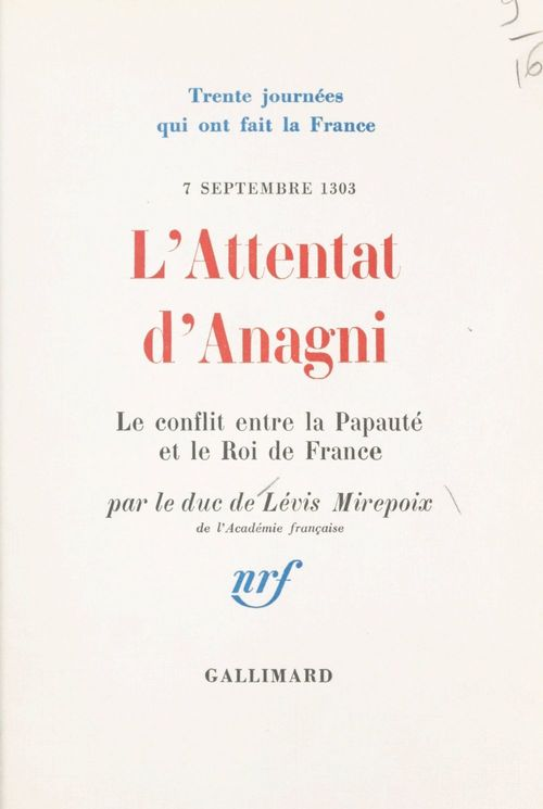 L'attentat d'Anagni