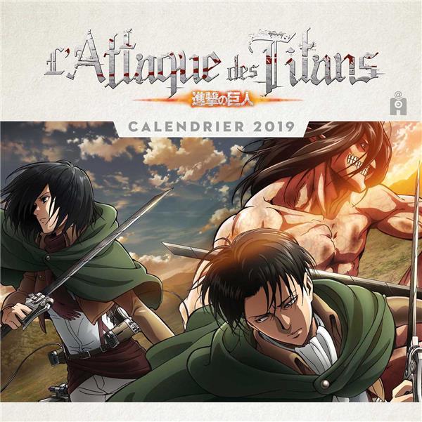 L Attaque Des Titans Calendrier Edition 2019 Hajime Isayama