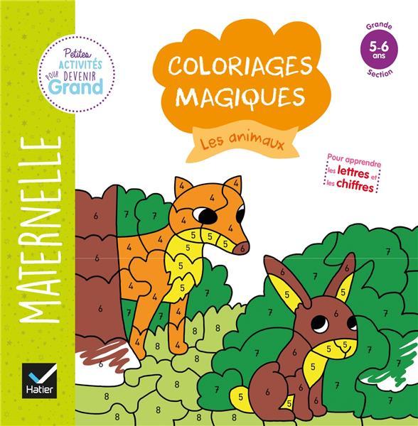 Coloriages magiques ; les animaux