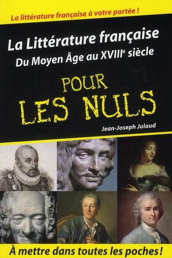 Litterature Francaise Tome 1 Poche Pour Les Nuls