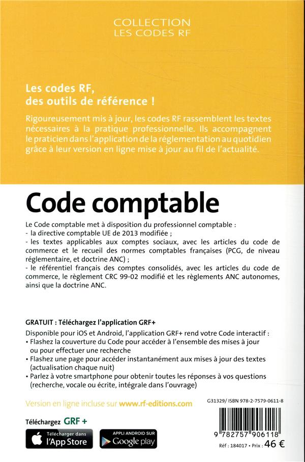 code comptable (édition 2018)