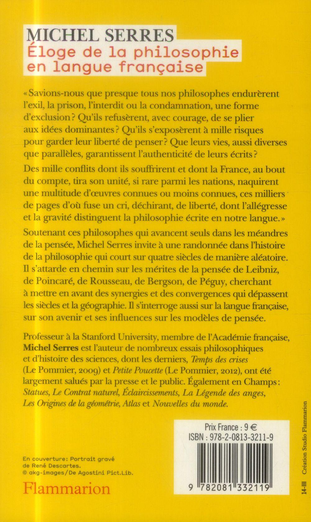 éloge de la philosophie en langue française