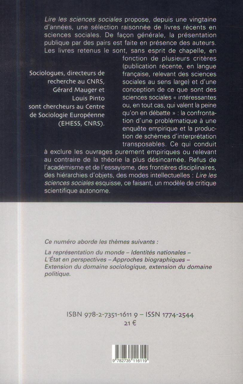 lire les sciences sociales t.6