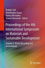 Proceedings of the 4th International Symposium on Materials and Sustainable Development  - Hamza Mechakra - Youcef Ghernouti - Brahim Safi - Abdelhakim Daoui