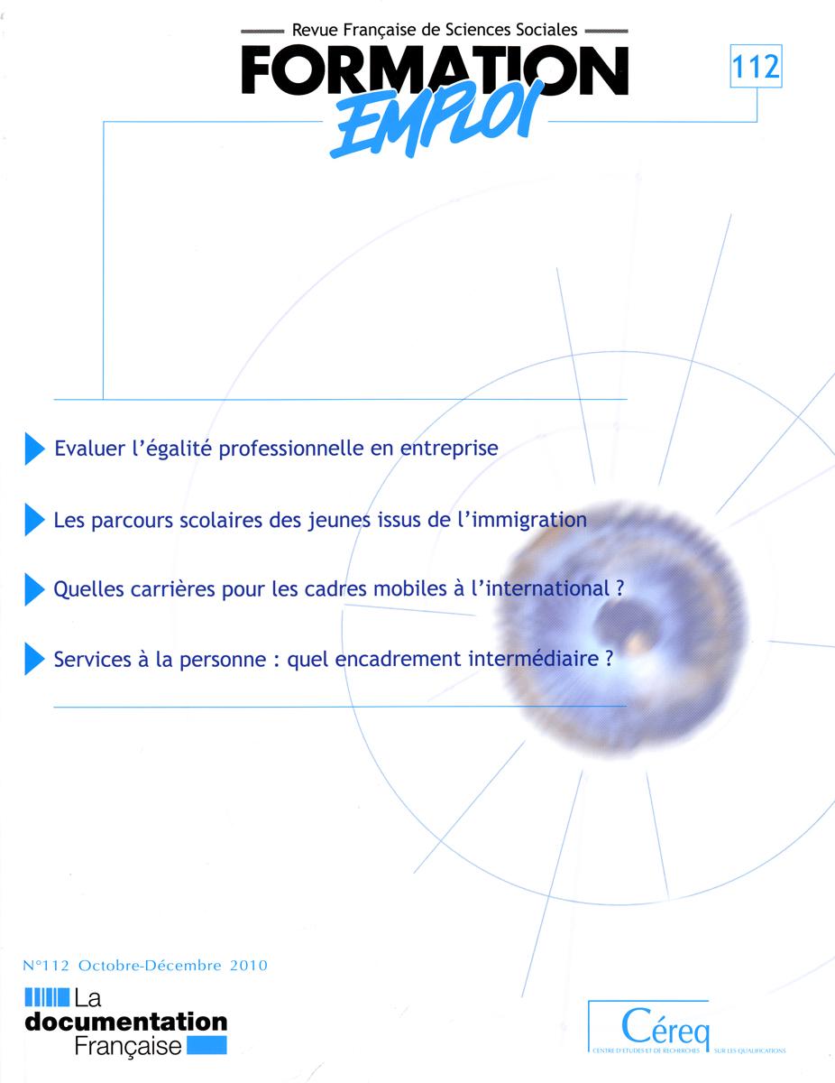 Prospective formation emploi n.112
