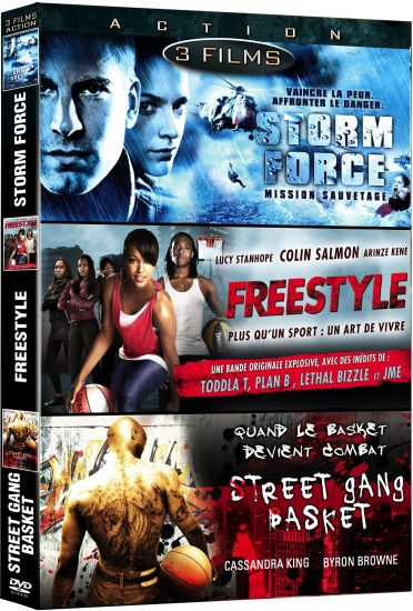 Action n° 2 - Coffret 3 films : Storm Force - Mission sauvetage + Freestyle + Street Gang Basket