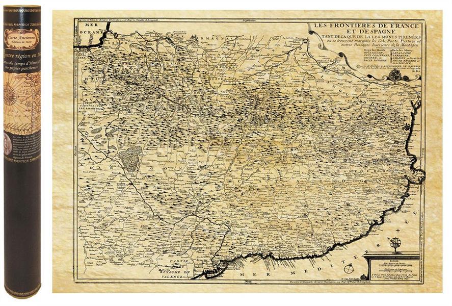 Pyrenees en 1694 58,5 cm x 42 cm
