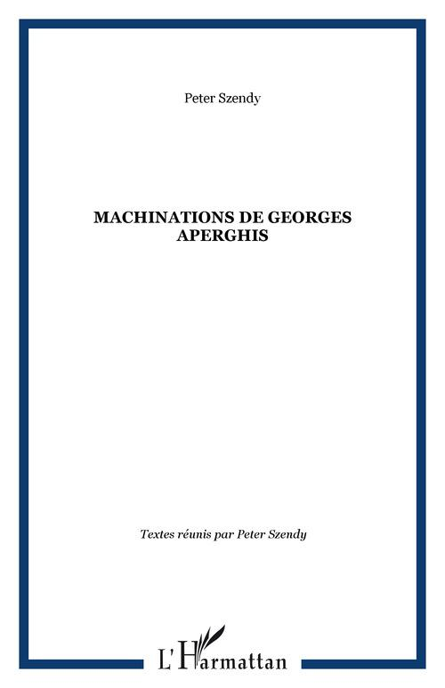 Machinations de Georges Aperghis