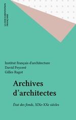 Vente EBooks : Archives d'architectes