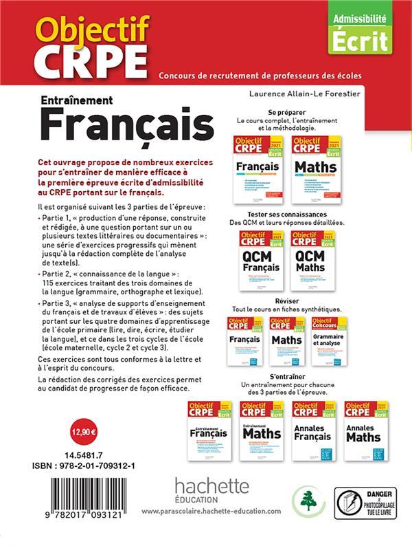 Objectif CRPE ; entraînement français (édition 2021)