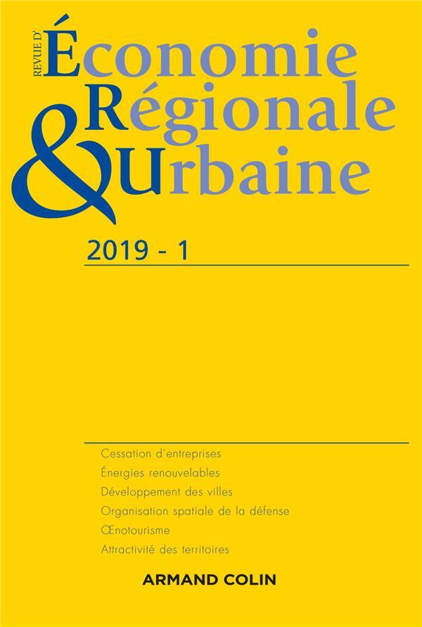 Revue d'économie régionale et urbaine n.1/2019 ; varia