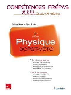 COMPETENCES PREPAS ; physique ; BCPST-véto 1re année