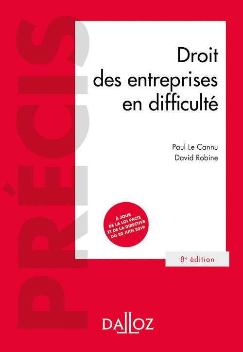 Droit des entreprises en difficulté - 8e ed.
